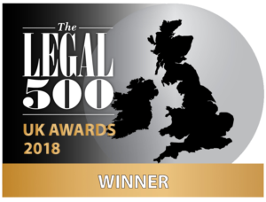Legal 500 UK Awards 2018: Winner